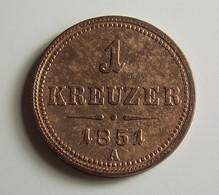 Austria 1 Kreuzer 1851 A Varnished - Oesterreich