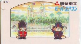 Télécarte Japon ANGLETERRE * ENGLAND * LONDON *  GUARD (357) GREAT BRITAIN Related *  Phonecard Japan * - Landscapes