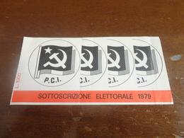 SOTTOSCRIZIONE ELETTORALE P.C.I. LIRE 1000- 1979 - Pubblicitari