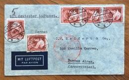 GERMANIA ARGENTINA  COVER DEUTSCHE LUFTPOST EUROPA-SUDAMERIKA 15/3/35 FROM HAMBURG  TO BUENOS AIRES - Deutschland