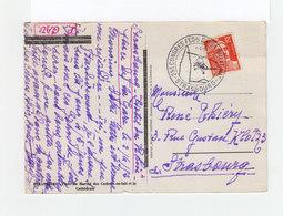 Sur Carte Postale De Stasbourg Cachet Congrés Féd. Exp. Philat. Nationale 1952 Avec Hélicoptère. (3214) - Marcophilie (Lettres)