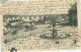Bordeaux 1905; La Place De La Bourse, Fontaine Des Trois Graces, Le Pont De Bordeaux Et Les Quais - Voyagé. - Bordeaux