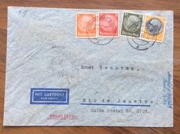 GERMANIA BRASILE COVER PAR AVION  FROM MEINERSDORF  TO RIO DE JANEIRO  THE 10/5/39 - Briefe U. Dokumente