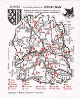 ILLUSTRATION BETE DE GEVAUDAN AU VERSO ENVELOPPE ANNEE 70 - Storia Postale