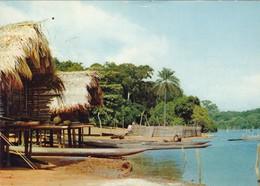AFRIQUE. LIBERIA.  NATIVE WATER HABITATION. PUBLICITE AMORA - Liberia