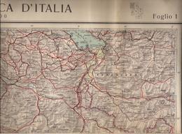 ITALIA - CARTA AERONAUTICA 500.000e.- SÉRIE COMPLÈTE D'ANCIENNES CARTES ROUTIÈRES - REALE UNION NAZIONALE AERONAUTICA. - Cartes Routières