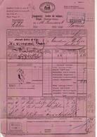 8860 HELVETIA  CHEMINS DE FER LETTRE DE VOITURE WOHLEN TO LUZERN - Railway