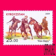 KYRGYZSTAN 2009 National Traditional Equestrian Sports Sport Games Horsemen Horses 1v Mi 574A MNH - Kyrgyzstan
