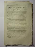 BULLETIN DE LOIS De 1830 - PRISONS MAISONS CENTRALES DE DETENTION PRISONNIERS - SOEURS DE BOURG SAINT ANDREOL ARDECHE - Décrets & Lois