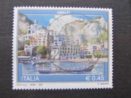 *ITALIA* USATI 2005 - TURISTICA AMALFI - SASSONE 2823 - LUSSO/FIOR DI STAMPA - 6. 1946-.. Repubblica