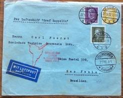 GERMANIA BRASILE   COVER PAR GRAF ZEPPELLIN   FROM  BREMEN  TO SAO PAULO   THE  2/5/32 - Briefe U. Dokumente