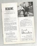 Publicité ,BEAUNE ,ville D'art ,cité Du Vin ,12 Pages, 4 Scans , Frais Fr 2.55 E - Publicités