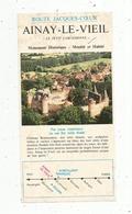 """Publicité , Route Jacques Coeur , AINAY LE VIEIL ,Cher , """"le Petit Carcassonne"""" 2 Pages, 2 Scans , Frais Fr 1.45 E - Publicités"""