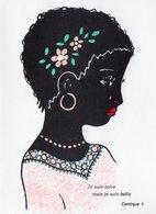 Je Suis Noire Mais Je Suis Belle . ( Carte 2 Volets ) - Afrique