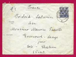 Enveloppe Avec Censure Datée De 1948 - Pli Expédié De Nachrodt Wiblingwerde à Destination De Énencourt Léage - American/British Zone
