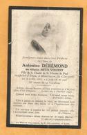 IMAGE GENEALOGIE FAIRE PART AVIS DECES  SOEUR ANTONINE DEREMOND MONTLUCON  1913 - Décès