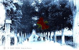 SAINT-TROND -- Allée Des Soupirs - Carte Bleutée Et Animée - Sint-Truiden