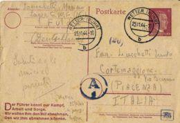 PRIGIONIERO LAVORATORE WERKLAGER WETTER GERMANY 1944 X CORTEMAGGIORE - 1900-44 Vittorio Emanuele III