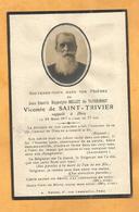 IMAGE GENEALOGIE FAIRE PART AVIS DECES  BELLET DE TAVERNOST VICOMTE DE SAINT TRIVIER  ORLEANS 1917 - Décès