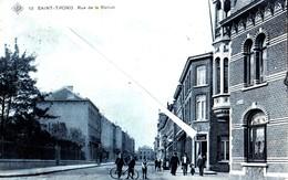 SAINT-TROND -- Rue De La Station - Carte Bleutée Et Animée - Sint-Truiden