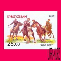 KYRGYZSTAN 2009 National Traditional Equestrian Sports Sport Games Horsemen Horses 1v Imperforated Mi 574B MNH - Kyrgyzstan
