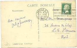 LOIRE INFre - Dépt N° 44 = NANTES RP 1925 =  FLAMME FLIER  'EXPOSITION / ARTS DECORATIFS MODERNES ' - Marcophilie (Lettres)