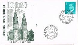 31530. Carta LOGROÑO 1983. Exposicion EXPOFIL RIOJA 83 - 1931-Hoy: 2ª República - ... Juan Carlos I
