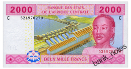 CENTRAL AFRICAN STATES 2000 FRANCS 2015 CHAD Pick 608C Unc - Stati Centrafricani