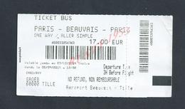 TICKET DE BUS PARIS BEAUVAIS SAGEB AÉROPORT BEAUVAIS : - Bus