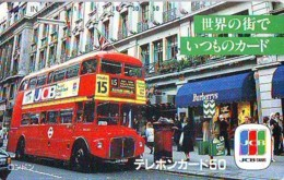 Télécarte Japon * ANGLETERRE * ENGLAND * LONDON * Double-decker Bus  (371) GREAT BRITAIN Related *  Phonecard Japan * - Paysages