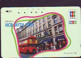 Télécarte Japon * ANGLETERRE * ENGLAND * LONDON * Double-decker Bus  (373) GREAT BRITAIN Related *  Phonecard Japan * - Landscapes