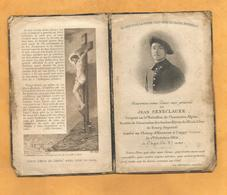 FAIRE PART DECES POILU WWI SERGENT 51 EME BATAILLON CHASSEURS ALPINS  CAPPY  1ER SOMME OCTOBRE 1914 - Documents