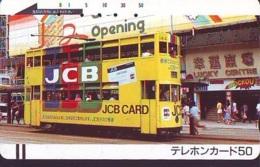 Télécarte Japon * ANGLETERRE * ENGLAND * LONDON * Double-decker TRAM  (375) GREAT BRITAIN Related *  Phonecard Japan * - Landschappen