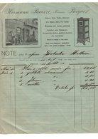 Brigue (Suisse) Facture HERMANN PACAZZI  Ferronerie  1918 (PPP17073) - Suisse