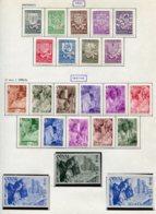 11190  BELGIQUE  Collection Vendue Par Page */° N°547/55ND/567B    1941-42  B/TB - Belgique