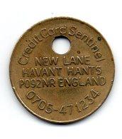 ROYAUME-UNI - Jeton - Credit Card Sentinel - NEW LANE HAVANT HANTS - ENGLAND - FINDER - Royaume-Uni