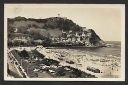 Espagne España Carte Postale San Sebastian Jardines Y Playa De Ondarreta Old Postcard Spain - Cádiz