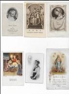 Lot De 6 Images Religieuses - Religion & Esotericism