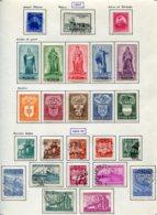 11201  BELGIQUE  Collection Vendue Par Page */° N°748/72     1947-49  B/TB - Belgique
