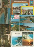 Cp , 83 , SANARY SUR MER , VAR ,  LOT DE 5 CARTES POSTALES - Cartes Postales