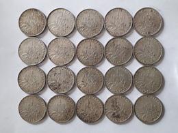 Lot De 20 Pièces De 1 Franc Semeuse Argent Silver - H. 1 Franc