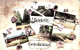 Souvenir Du Camp De BEVERLOO - Superbe Carte Colorée Plusieurs Vues. - Leopoldsburg (Kamp Van Beverloo)