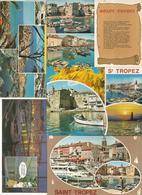 Cp , 83 , SAINT TROPEZ , VAR ,  LOT DE 5 CARTES POSTALES - Cartes Postales