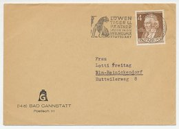 Cover / Postmark Germany 1953 Lion - Tiger - Panther - Zoo Wilhelma Stuttgart - Timbres