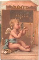 Figurina, Chromo. Angelot, Amour Examine Un Collier D'or. Amorino, Angioletto Esamina Una Collana D'oro. Testu Massin - Autres