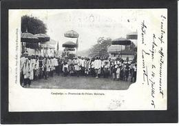 CPA Cambodge Procession Du Prince Matchato Circulé - Cambodia