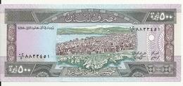 LIBAN 500 LIVRES 1988 UNC P 68 - Libano