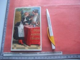 1 Carta Pubblicità, Spessa,  16cmX9,8cm , CITRATO MAGNESIA BRIOSCHI  Brioschi Magnesium Citrate -  Litho BOMBELLI C1888 - Dépliants Turistici