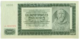 Čechya Morava, Tisict Korun, 1000 Korun, Tausend Kronen, SPECIMEN, 1942 , Serie Jc, Bohemia Moravia - Tchécoslovaquie