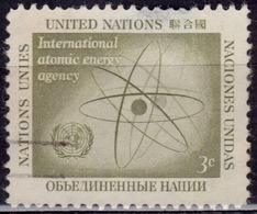 United Nations, 1958, Atom And UN Emblem, 3c, Sc#59, Used - New York – UN Headquarters